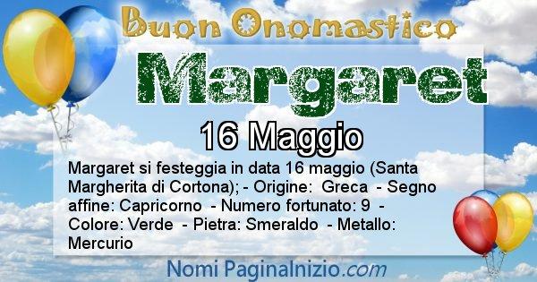 Margaret - Onomastico del nome Margaret