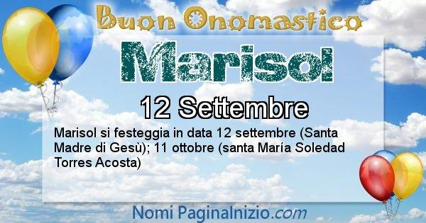Marisol - Onomastico del nome Marisol