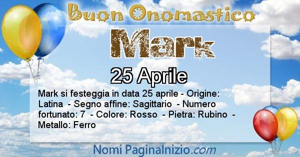 Mark - Onomastico del nome Mark