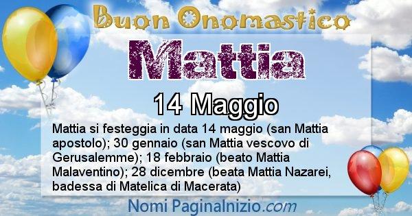Mattia - Onomastico del nome Mattia