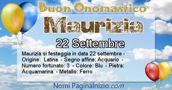 Maurizia - Onomastico del nome Maurizia