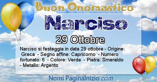 Narciso - Onomastico del nome Narciso