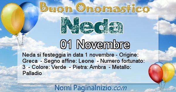 Neda - Onomastico del nome Neda