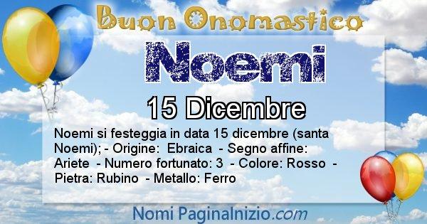 Noemi - Onomastico del nome Noemi