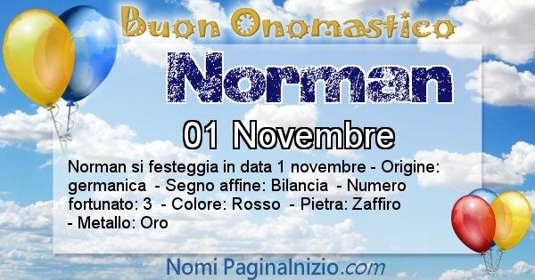 Norman - Onomastico del nome Norman