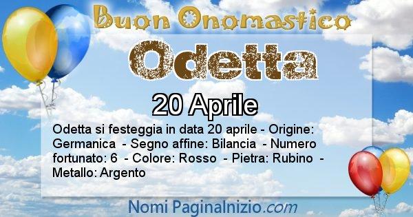 Odetta - Onomastico del nome Odetta