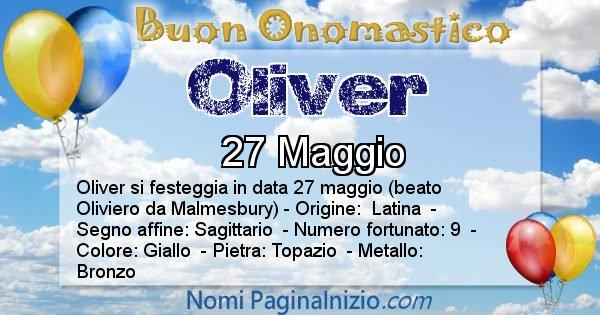 Oliver - Onomastico del nome Oliver
