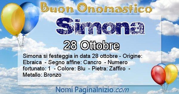 Simona - Onomastico del nome Simona