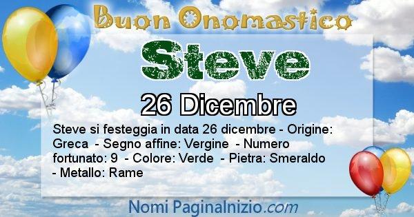 Steve - Onomastico del nome Steve