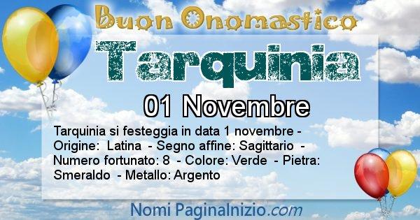 Tarquinia - Onomastico del nome Tarquinia