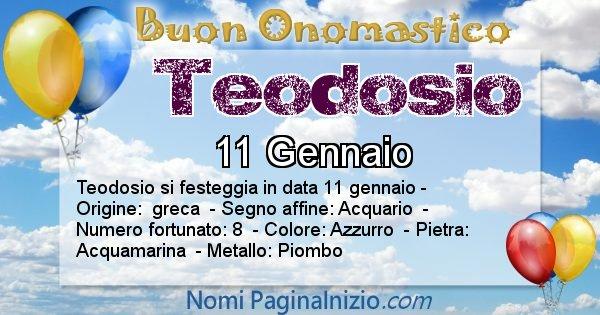 Teodosio - Onomastico del nome Teodosio