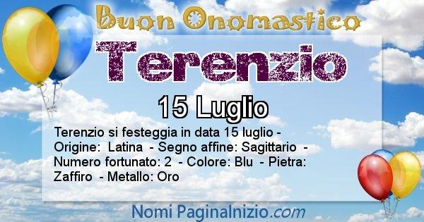 Terenzio - Onomastico del nome Terenzio