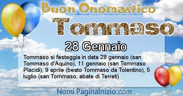 Tommaso - Onomastico del nome Tommaso