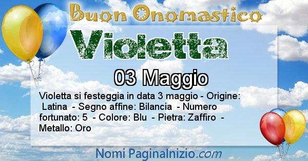 Violetta - Onomastico del nome Violetta