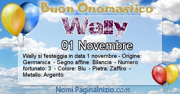 Wally - Onomastico del nome Wally