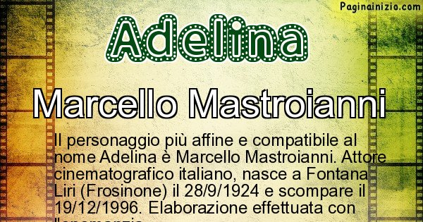 Adelina - Personaggio storico associato a Adelina
