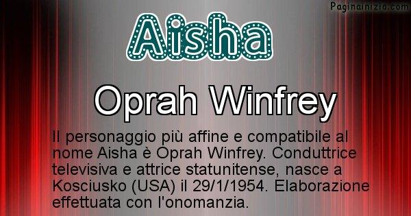 Aisha - Personaggio storico associato a Aisha