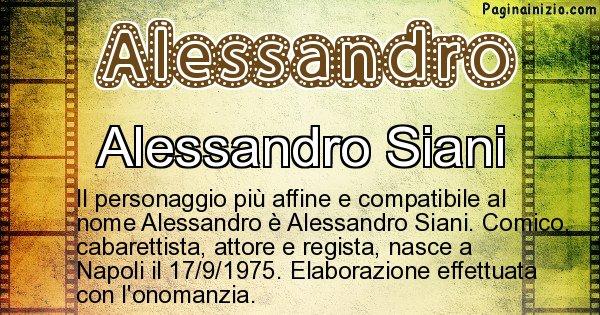 Alessandro - Personaggio storico associato a Alessandro