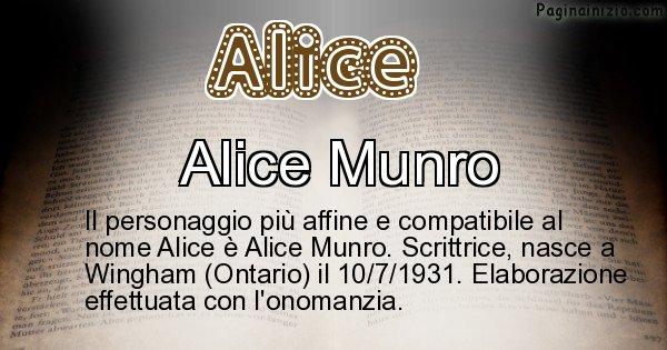 Alice - Personaggio storico associato a Alice