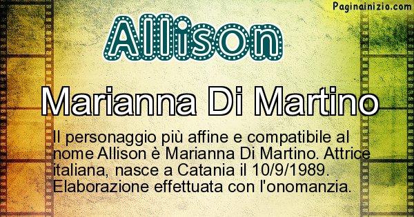 Allison - Personaggio storico associato a Allison