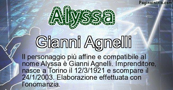 Alyssa - Personaggio storico associato a Alyssa