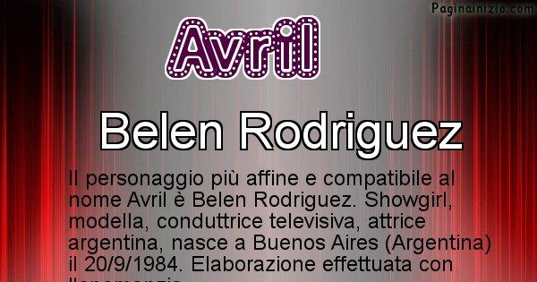 Avril - Personaggio storico associato a Avril