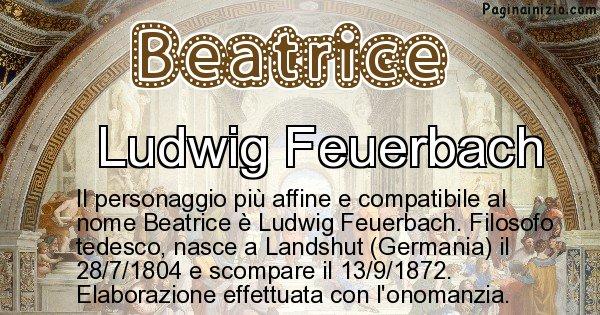 Beatrice - Personaggio storico associato a Beatrice