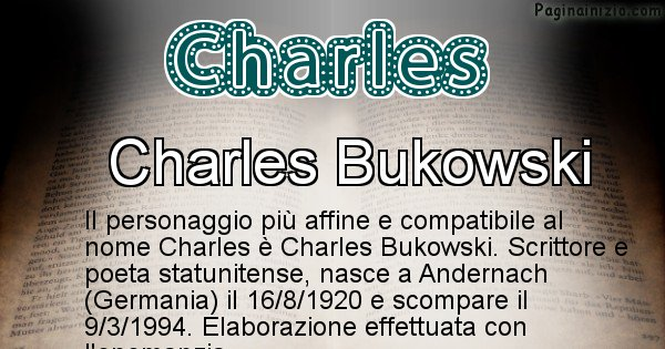 Charles - Personaggio storico associato a Charles