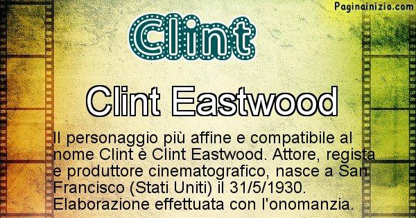 Clint - Personaggio storico associato a Clint