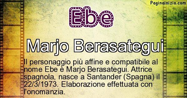 Ebe - Personaggio storico associato a Ebe