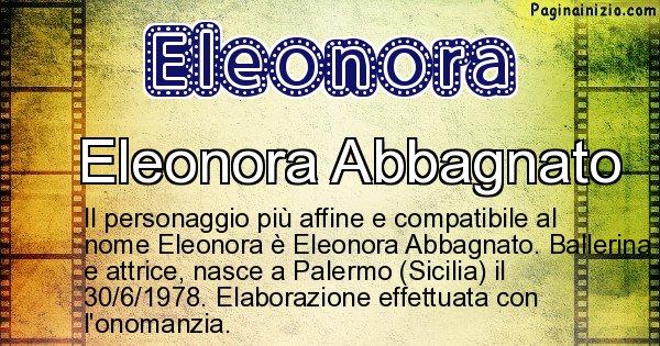 Eleonora - Personaggio storico associato a Eleonora