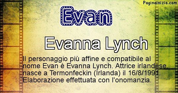 Evan - Personaggio storico associato a Evan