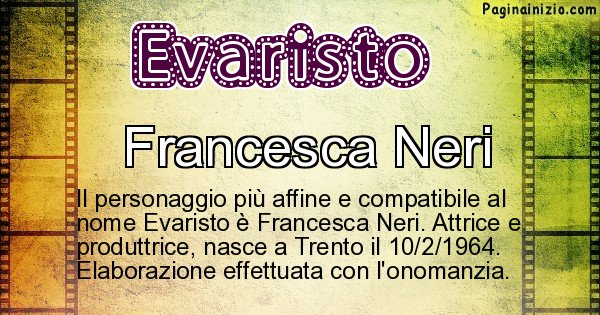 Evaristo - Personaggio storico associato a Evaristo