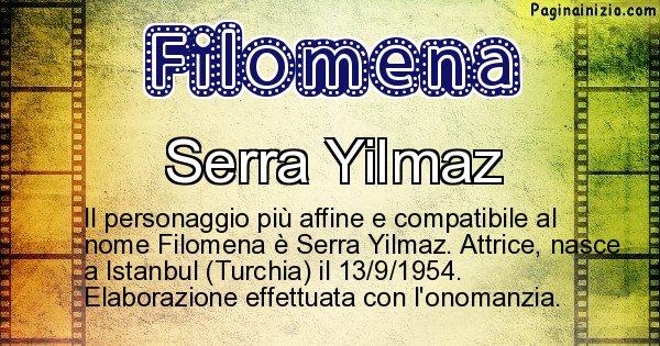 Filomena - Personaggio storico associato a Filomena