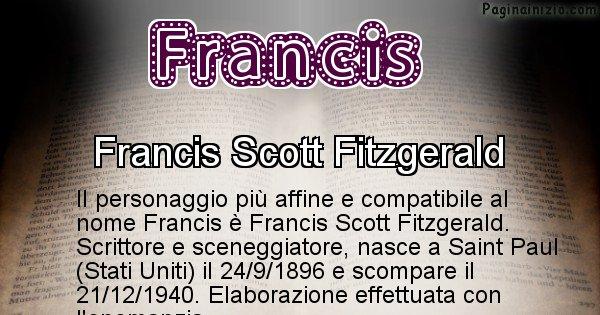 Francis - Personaggio storico associato a Francis