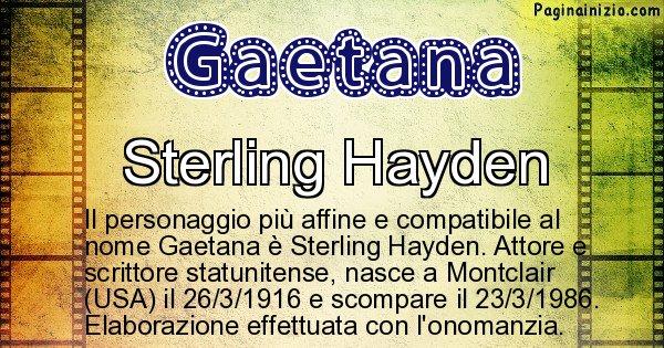 Gaetana - Personaggio storico associato a Gaetana
