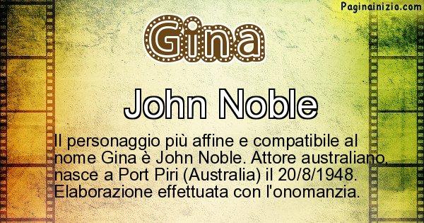 Gina - Personaggio storico associato a Gina