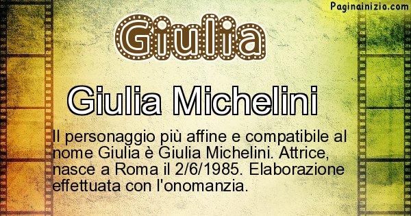 Giulia - Personaggio storico associato a Giulia