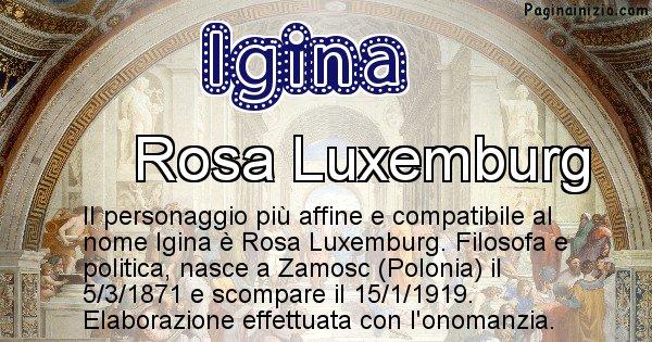 Igina - Personaggio storico associato a Igina