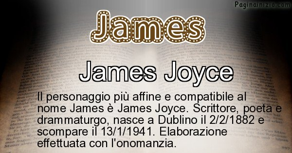 James - Personaggio storico associato a James