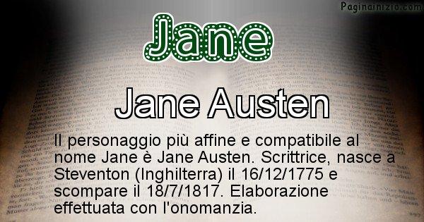 Jane - Personaggio storico associato a Jane