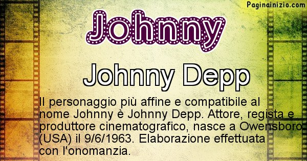 Johnny - Personaggio storico associato a Johnny