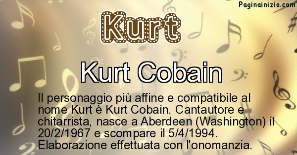 Kurt - Personaggio storico associato a Kurt
