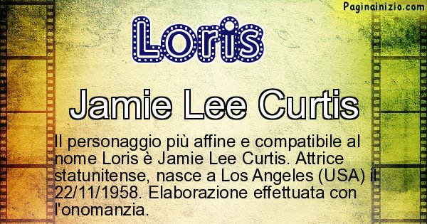 Loris - Personaggio storico associato a Loris