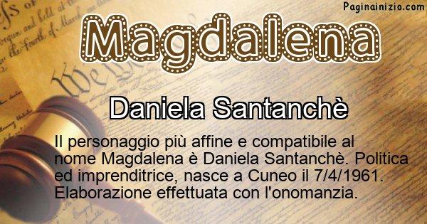 Magdalena - Personaggio storico associato a Magdalena