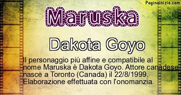 Maruska - Personaggio storico associato a Maruska