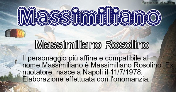 Massimiliano - Personaggio storico associato a Massimiliano