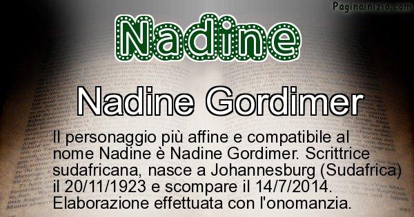 Nadine - Personaggio storico associato a Nadine