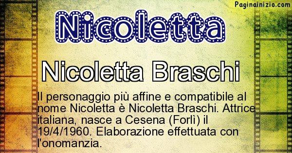 Nicoletta - Personaggio storico associato a Nicoletta