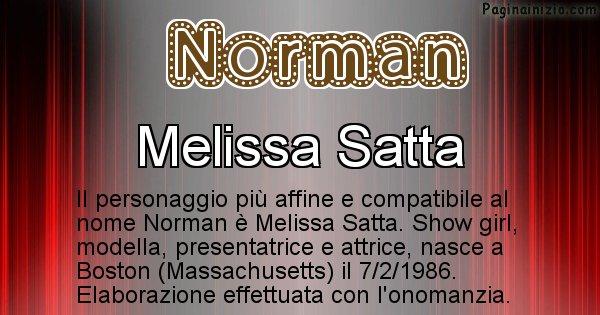 Norman - Personaggio storico associato a Norman